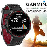 Garmin Forerunner 235 GPS Running Sports Watch | Heart Rate/Live Tracking | BLK/RED