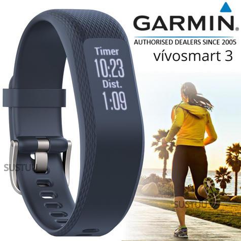 Garmin Vivosmart 3 Fitness Sports Watch|Heart Rate/Activity Tracker|Blue Small Thumbnail 1