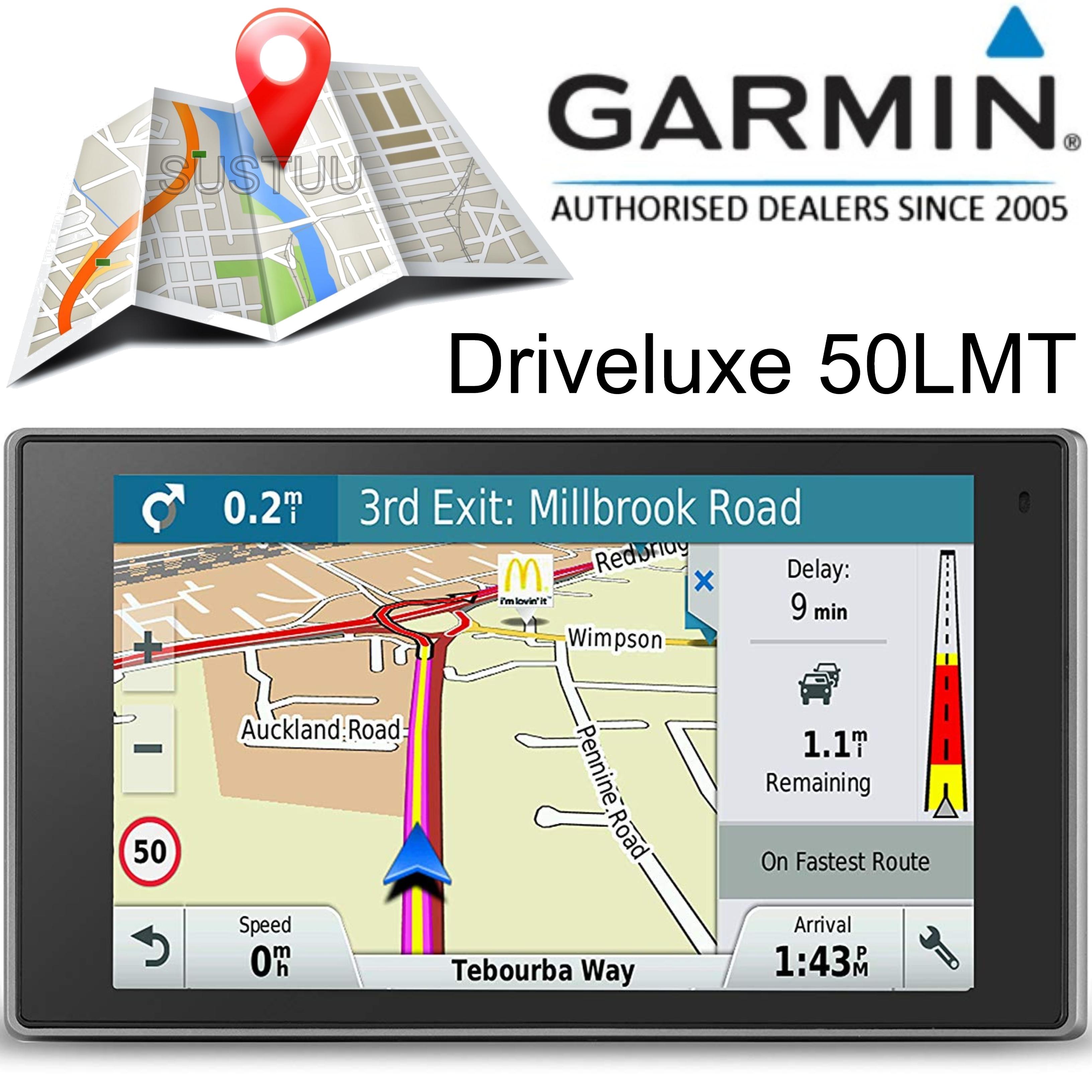 "Garmin Driveluxe 50LMT 5"" GPS SatNav   FREE LIFETIME UK Europe Map Updates+Traffic"