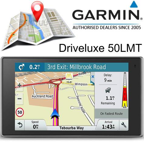 "Garmin Driveluxe 50LMT 5"" GPS SatNav   FREE LIFETIME UK Europe Map Updates+Traffic Thumbnail 1"