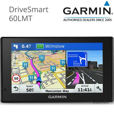 Garmin DriveSmart 60LMT|Car 6'' GPS SatNav|LIFETIME Maps & Traffic|Voice Control Thumbnail 1