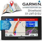 Garmin DriveAssist 51LMT-D|Car GPS SatNav|Europe LIFETIME Maps & Digital Traffic
