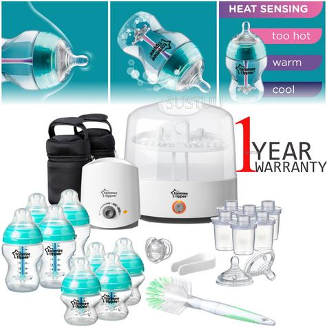 Tommee Tippee Anti-Colic Baby Feeding Set | 23pc Including Electric Steriliser+Bottle Warmer Thumbnail 1