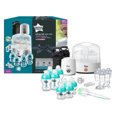 Tommee Tippee Anti-Colic Baby Feeding Set | 23pc Including Electric Steriliser+Bottle Warmer Thumbnail 3