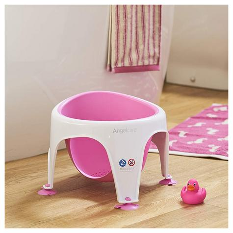 Angelcare Soft-Touch Baby Bath Seat Pink | Lightweight | TPE Material | 12kg Capicity Thumbnail 6
