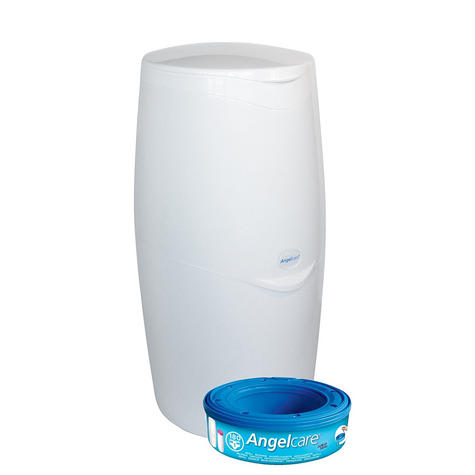 Angelcare Nappy Disposal System|Baby/Kid's Nappies/Diapers Cleaning Bin|White| Thumbnail 2