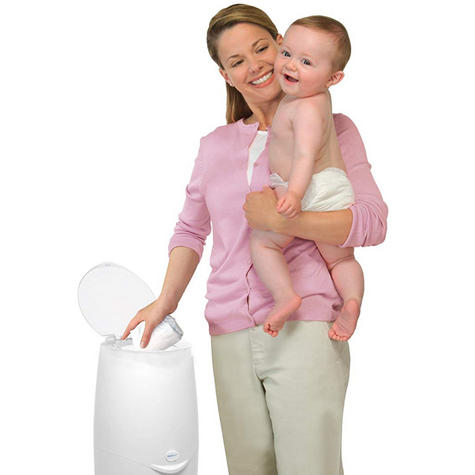 Angelcare Nappy Disposal System|Baby/Kid's Nappies/Diapers Cleaning Bin|White| Thumbnail 8