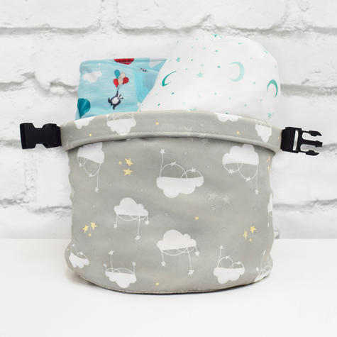 Bambino Mio Wet Nappy Bag Cloud Nine|Simple Fold|Roll Closure|4 Nappy Holder Thumbnail 5