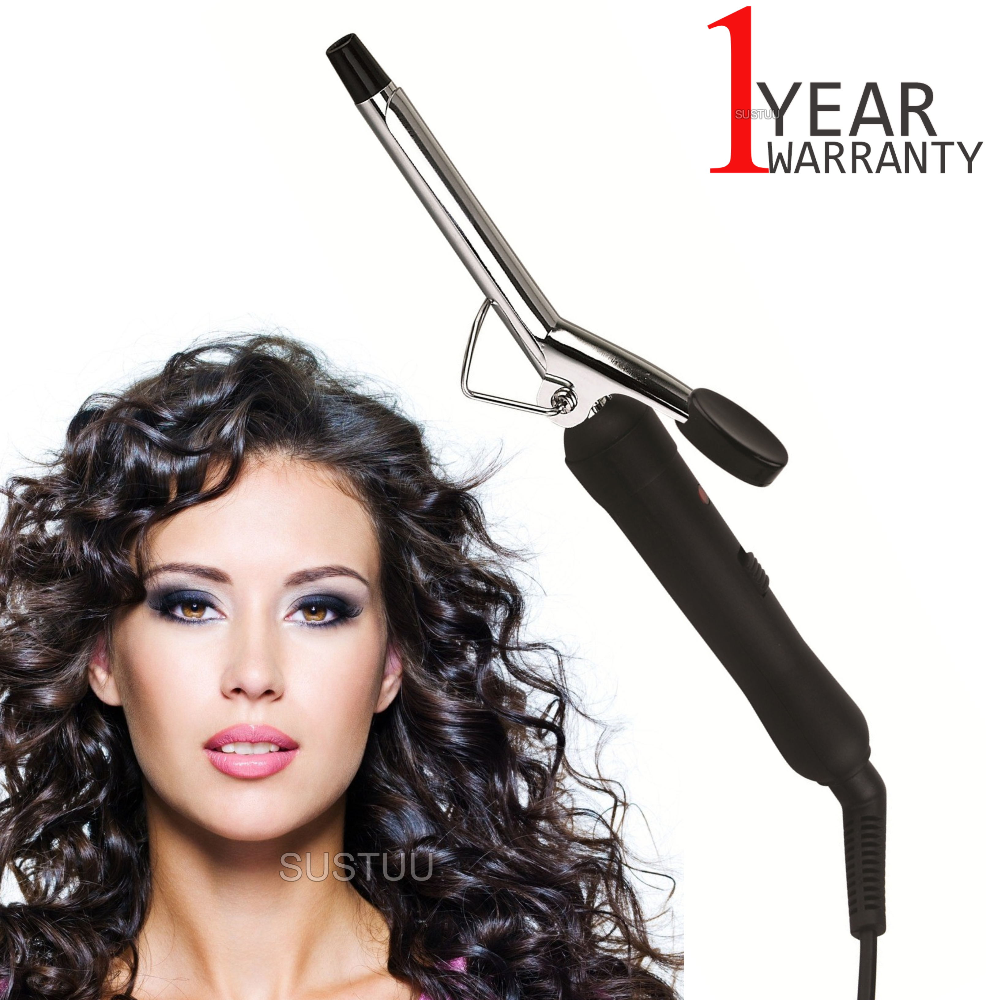 Omega Slimline Hair Curling Tong | 13mm Barrel | Power On/Off Switch | 360° Swivel Cord