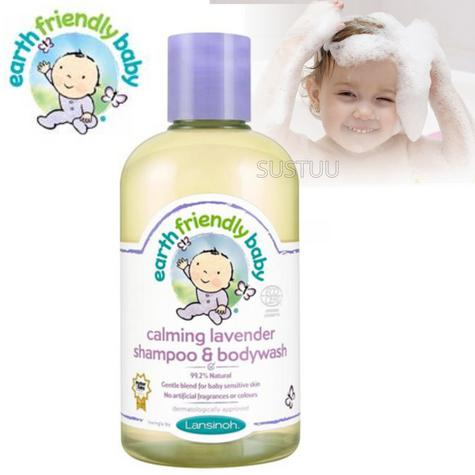Earth Friendly Baby | Organic Soothing Shampoo & Bodywash | Lavender | 250ml | +0months Thumbnail 1