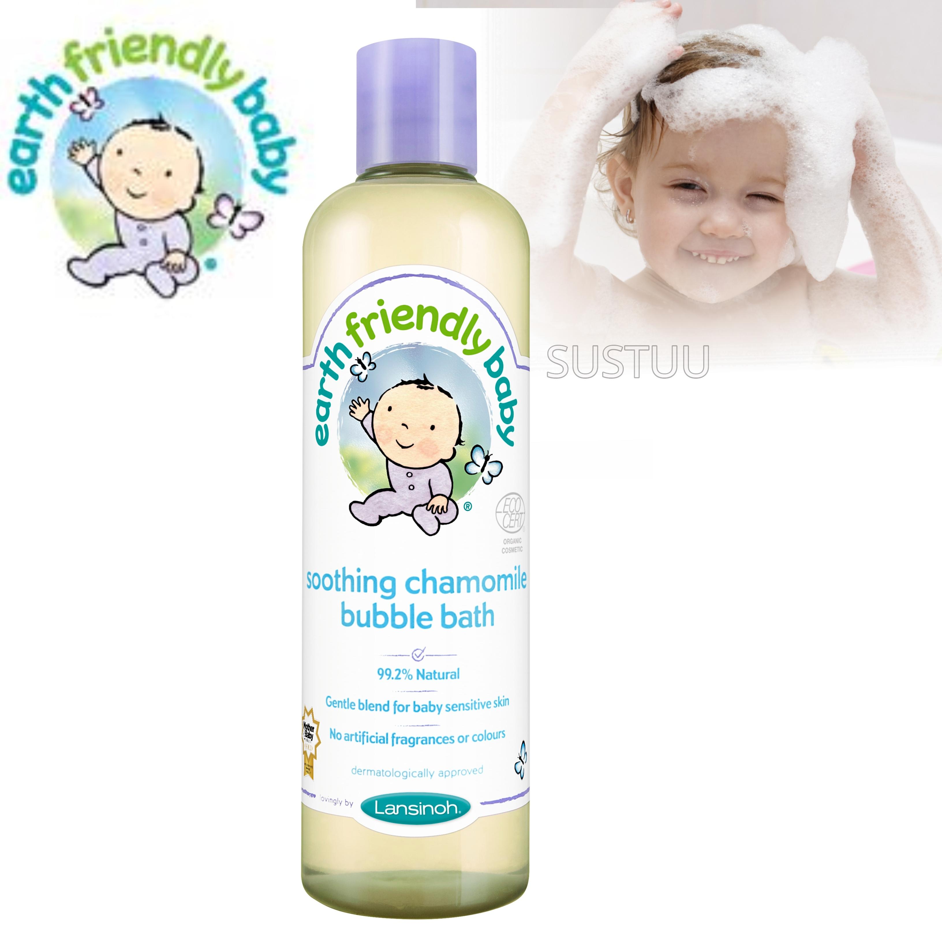 Earth Friendly Baby | Organic Soothing Bubble Bath Bodywash | Chamomile | 300ml | +0 Months