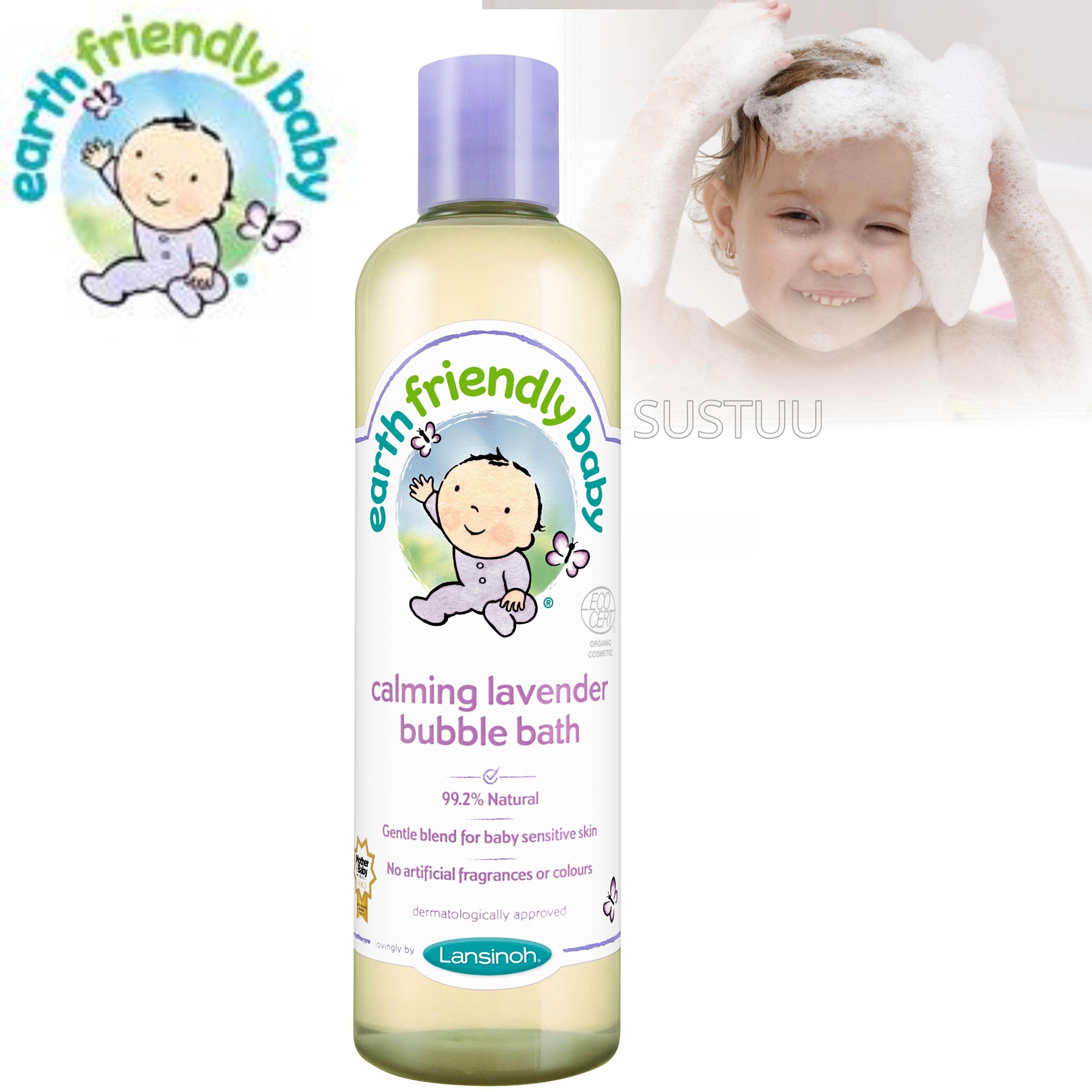 Earth Friendly Baby | Organic Soothing Bubble Bath Bodywash | Lavender | 300ml | +0 Months
