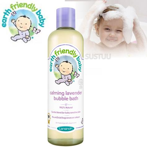 Earth Friendly Baby | Organic Soothing Bubble Bath Bodywash | Lavender | 300ml | +0 Months Thumbnail 1