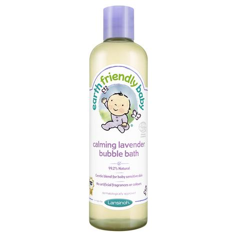 Earth Friendly Baby | Organic Soothing Bubble Bath Bodywash | Lavender | 300ml | +0 Months Thumbnail 2