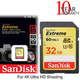 SanDisk 32GB Extreme SDHC UHS-I Memory Card | Class 10 | 90 MB/s | For 4K Ultra HD Recording