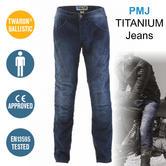 PMJ Titanium Motorcycle Mens Jeans MID|CE1621-1 Approved|EN13595-1|100% TWARON