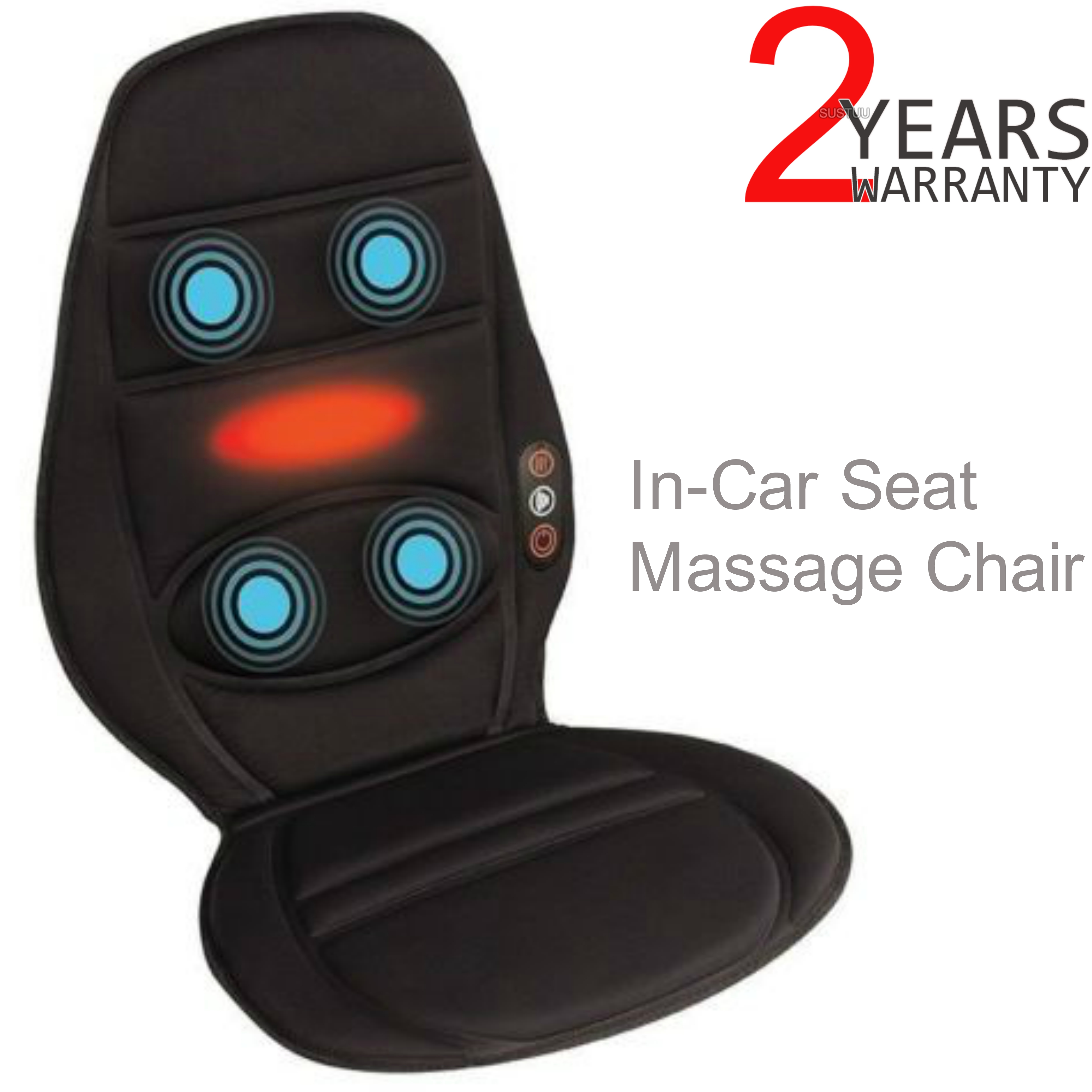 Homedics BKP112HA In Car Seat Massager | Cushion With Heat | Back Muscle Pain Relief