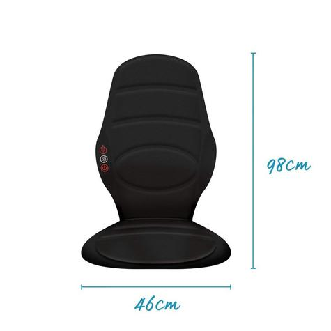 Homedics BKP112HA In Car Seat Massager | Cushion With Heat | Back Muscle Pain Relief Thumbnail 3