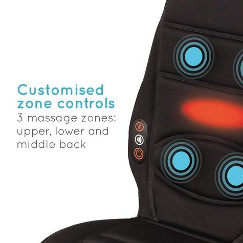 Homedics BKP112HA In Car Seat Massager | Cushion With Heat | Back Muscle Pain Relief Thumbnail 4