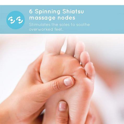 Homedics FM-TS9 Deluxe Shiatsu Foot Massager | 6 Rotating Nodes + 18 Massage Heads Thumbnail 4