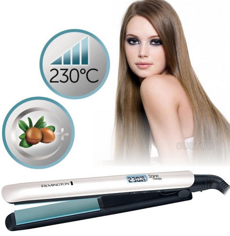 Remington S8500 Shine Therapy Ceramic Straightener | 9 Temp Settings | 150°C - 230°C Thumbnail 1