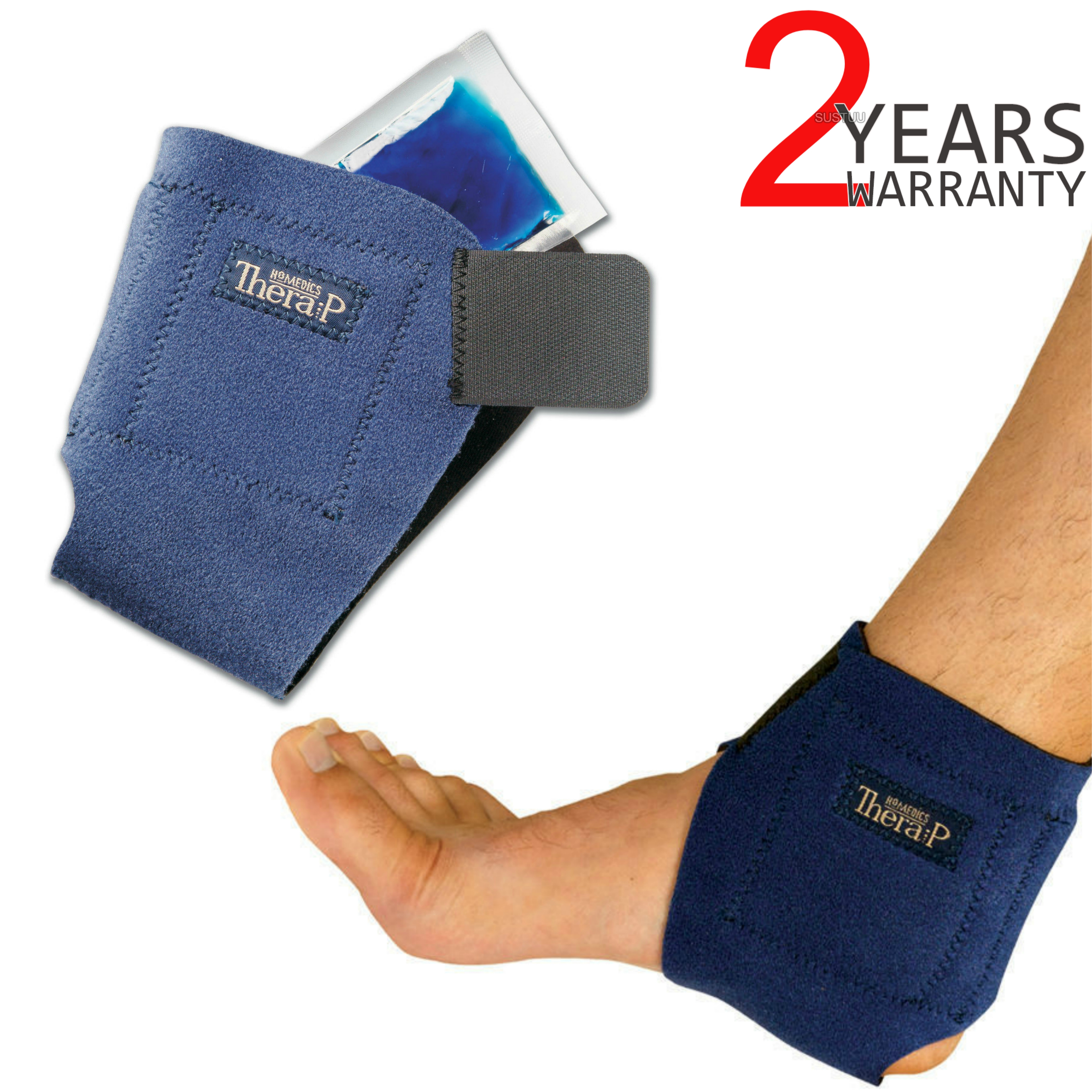 Homedics MW-AHC-0EU Hot & Cold Ankle Wrap | Foot Guard Heating Magnetic Therapy