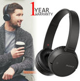 Sony Wireless Bluetooth On-Ear Headphones | NFC One Touch Connection | Built-In Mic