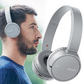 Sony Wireless Bluetooth On-Ear Headphone | NFC One Touch Connect | Built-in Mic | Grey