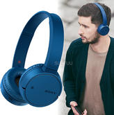 Sony Wireless Bluetooth On-Ear Headphone | NFC One-touch Connect | Built-In Mic | Blue