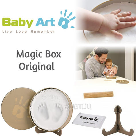 Baby Art Magic Box Original|Baby/Kids Hand/Foot Round Print|Baby Shower Gift Kit Thumbnail 1