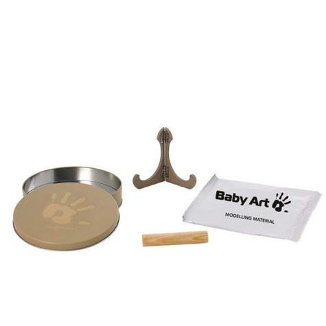 Baby Art Magic Box Original|Baby/Kids Hand/Foot Round Print|Baby Shower Gift Kit Thumbnail 3
