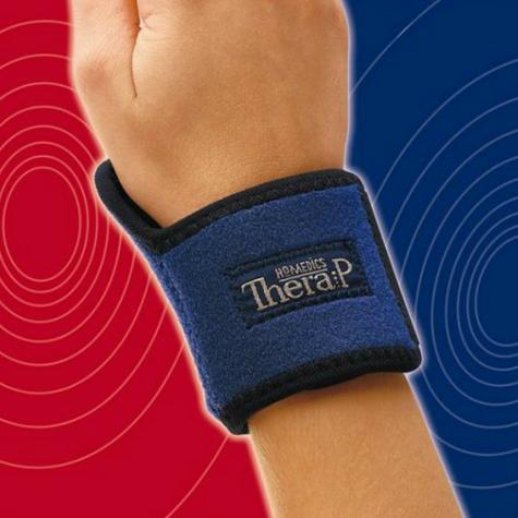Homedics MW-WHC Magnetic Hot & Cold Therapy Wrist Wrap | Lightweight Design | Blue Thumbnail 3