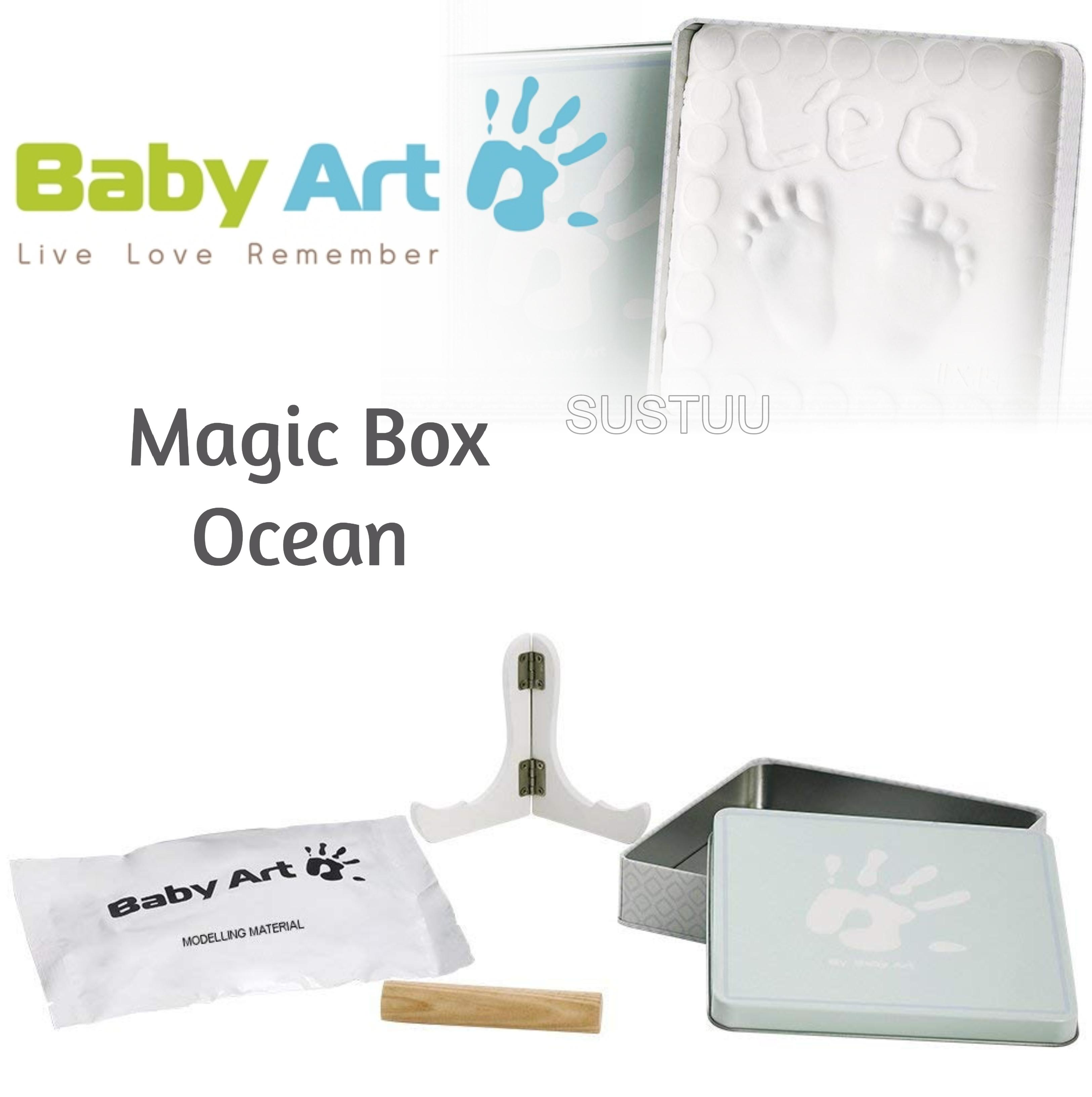 Baby Art Magic Box Ocean?Baby/Kids Hand/Foot Round Print?Baby Shower Gift Kit?
