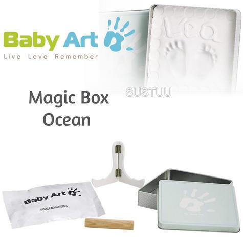 Baby Art Magic Box Ocean?Baby/Kids Hand/Foot Round Print?Baby Shower Gift Kit? Thumbnail 1