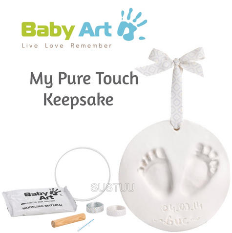 Baby Art My Pure Touch Keepsake|Kid's Round Footprint & Handprint Kit Set|0-3y| Thumbnail 1