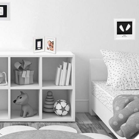 Baby Art My Little Steps Sculpture Frame|Kid's Little Steps Footprint Kit|White| Thumbnail 4