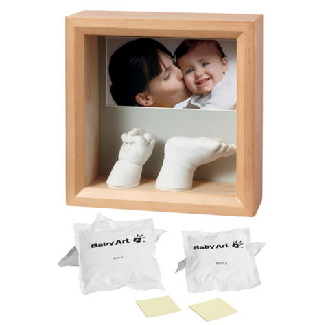 Baby Art My Baby Sculpture Honey Frame|Kid's Hand/Foot Reminder|3D Mould|0-3y| Thumbnail 1