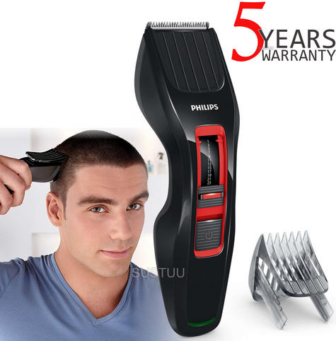 Philips Series 3000 Stainless Steel Blades Hair Clipper | DualCut Technology | Black Thumbnail 1