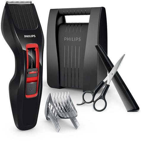 Philips Series 3000 Stainless Steel Blades Hair Clipper | DualCut Technology | Black Thumbnail 2