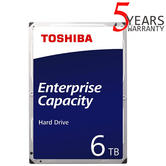 "Toshiba 6TB Enterprise 3.5"" Internal Hard Drive | MG Series | SATA 6Gbit/s | 7200RPM"