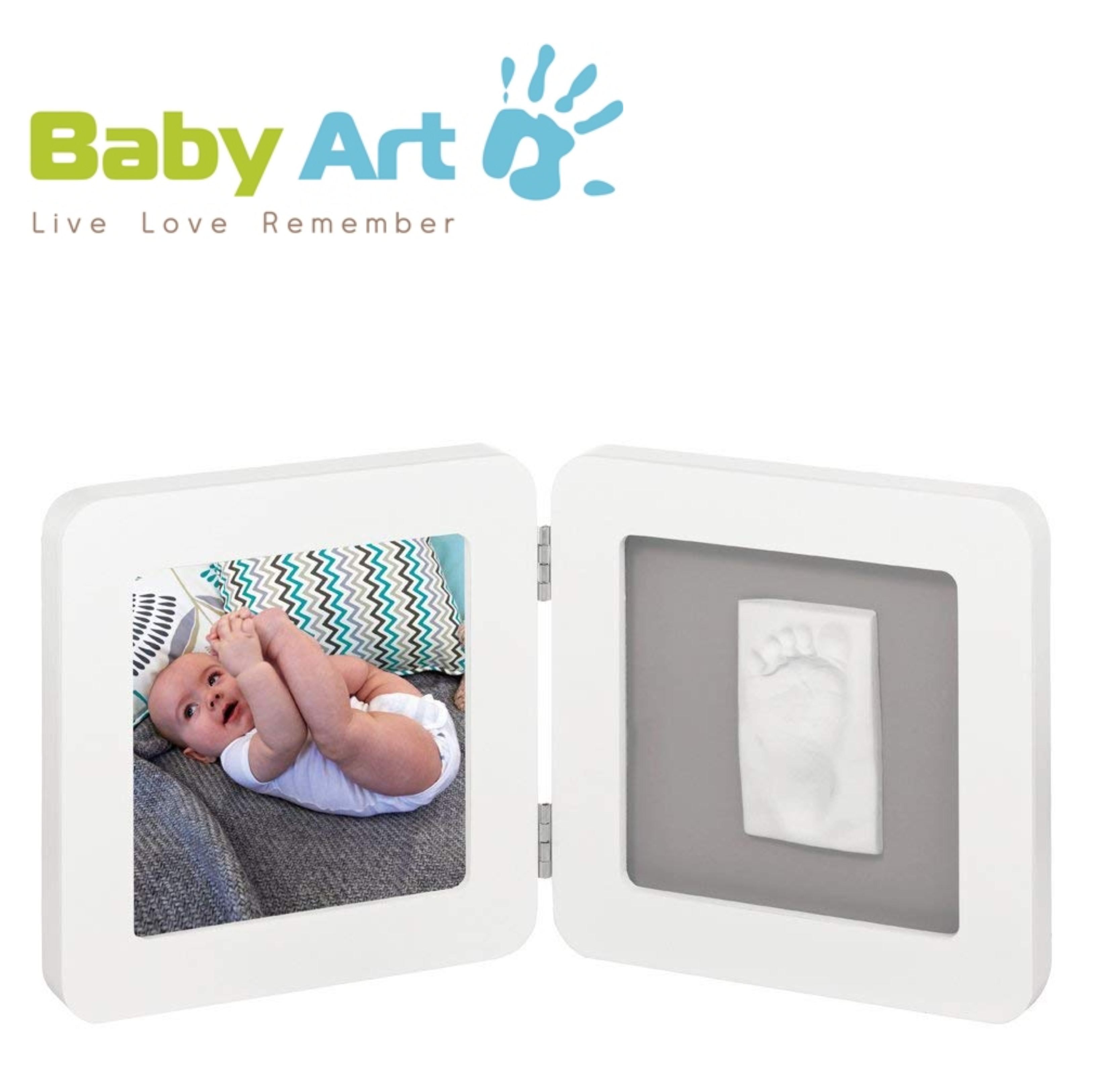 Baby Art My Baby Kid's Little Hand / Foot Print Touch Photo Frame|0-3y|White|