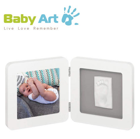 Baby Art My Baby Kid's Little Hand / Foot Print Touch Photo Frame|0-3y|White| Thumbnail 1