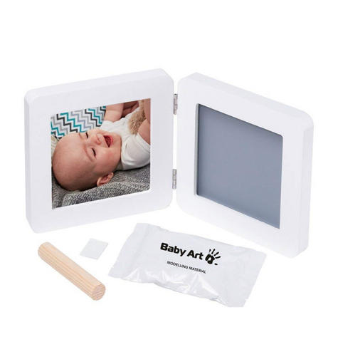 Baby Art My Baby Kid's Little Hand / Foot Print Touch Photo Frame|0-3y|White| Thumbnail 3