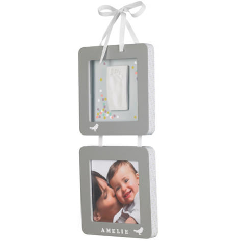 Baby Art My Little Bird Suspended Frames|Kid's Hand/Foot Prinit Photo|0-3y|Grey| Thumbnail 2