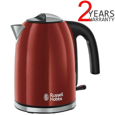 Russell Hobbs 20412 Colour Plus Kettle | 70% Energy Saving | 3000 W | 1.7 L | 360* | Red Thumbnail 1