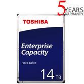 "Toshiba 14TB Enterprise 3.5"" Internal Hard Drive | MG Series | SATA 6Gbit/s | 7200RPM"