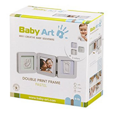 Baby Art My Baby Touch Two Cast with Photo Frame Pastel|Hand/Foot Print Keepsake Thumbnail 3