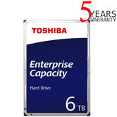 "Toshiba 6TB Enterprise 3.5"" Internal Hard Drive | MG Series | SATA 12Gbit/s | 7200RPM"