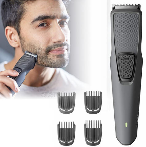 Philips Series 1000 Cordless Beard & Stubble Trimmer | 4 Combs | USB Charging | Black Thumbnail 1
