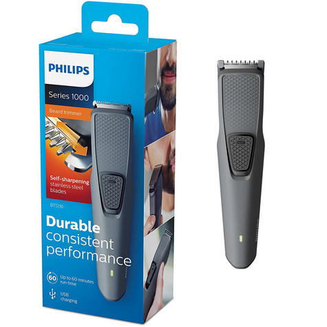 Philips Series 1000 Cordless Beard & Stubble Trimmer | 4 Combs | USB Charging | Black Thumbnail 7